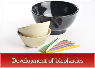 Development of bioplastics