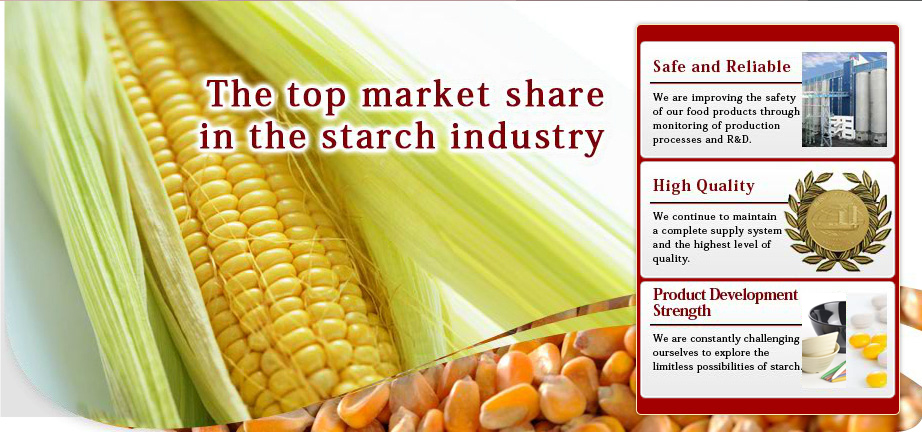 The top market share in the starch industry